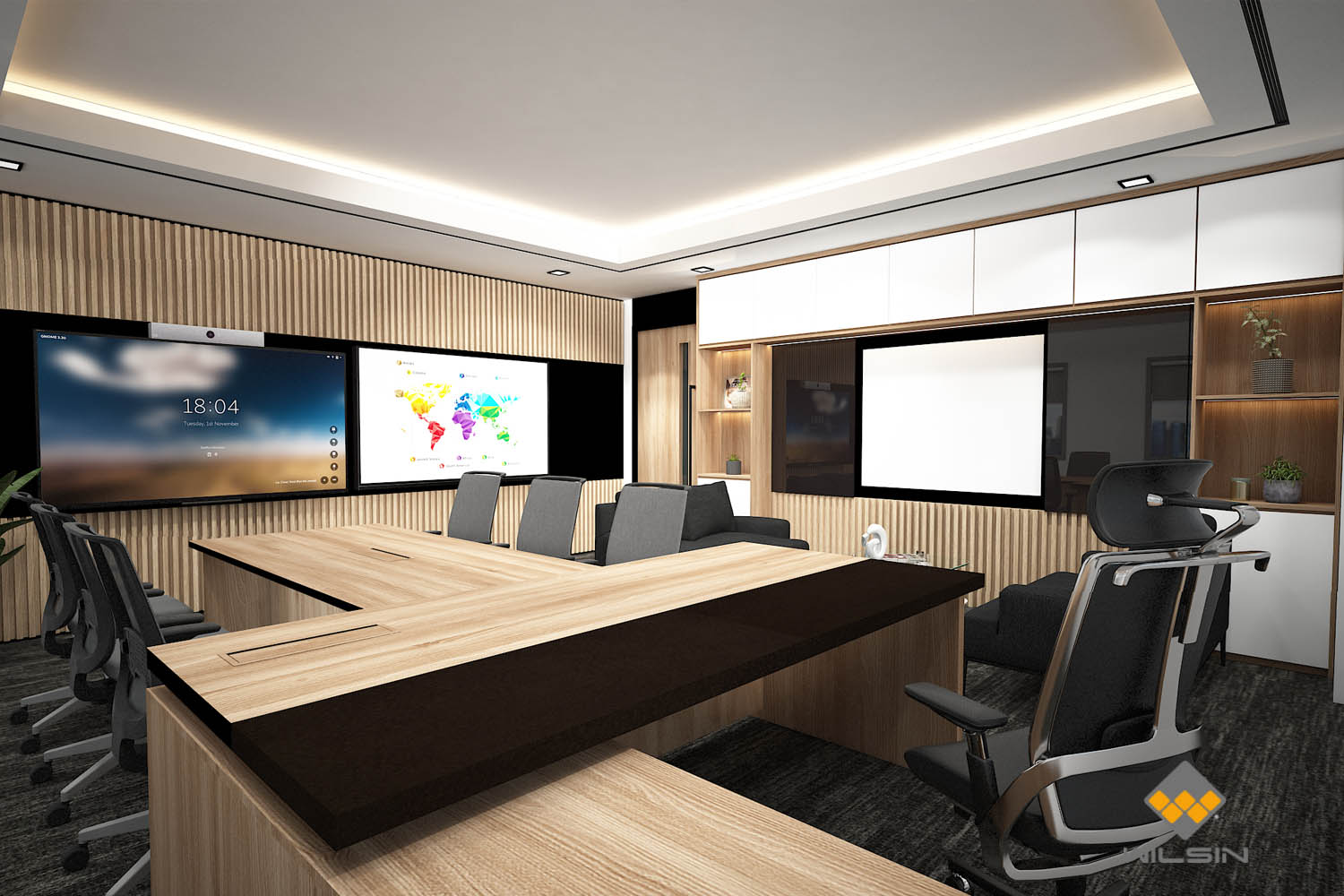 Wilsin Singapore Design Render of Executive Management Office With Meeting Table