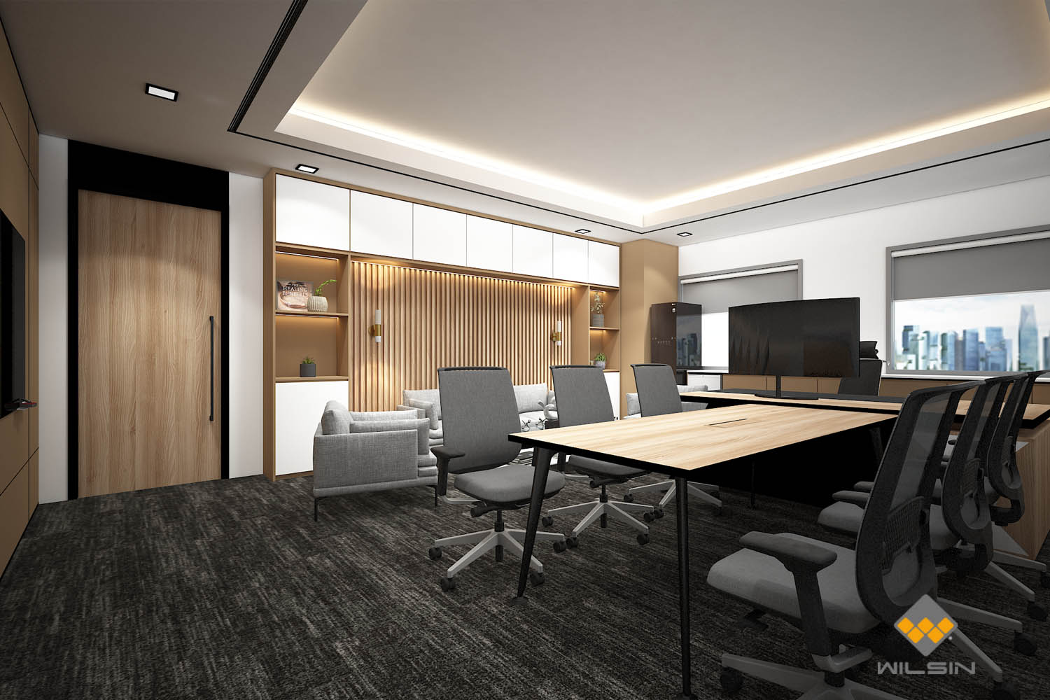 Ideas Design Render of Executive Management Office With Meeting Table