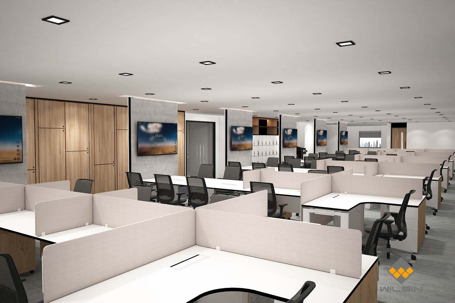 Office Workstation Area Interior Design Projects