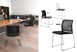 Alpha Office Pantry Chairs in Black with 2 Legged Frames in Meeting Room