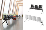 Alpha Office Bench Chairs in White and Black