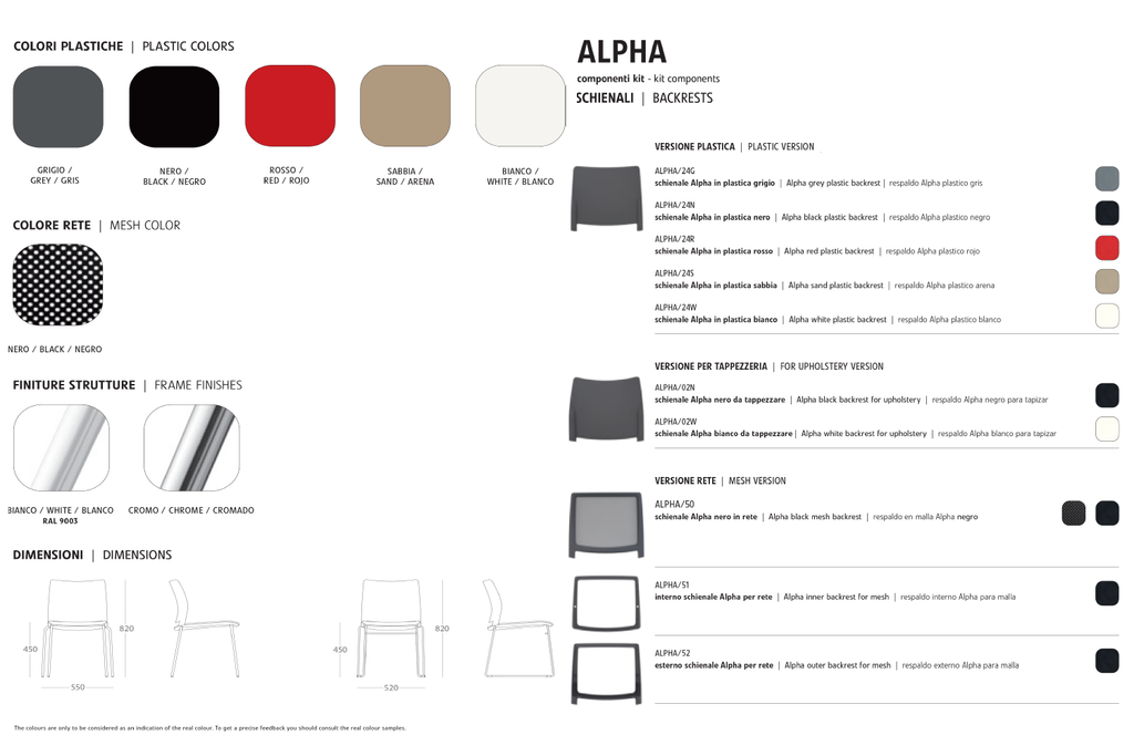 Seat Colours from Wilsin Office Furniture for Alpha Office Chair