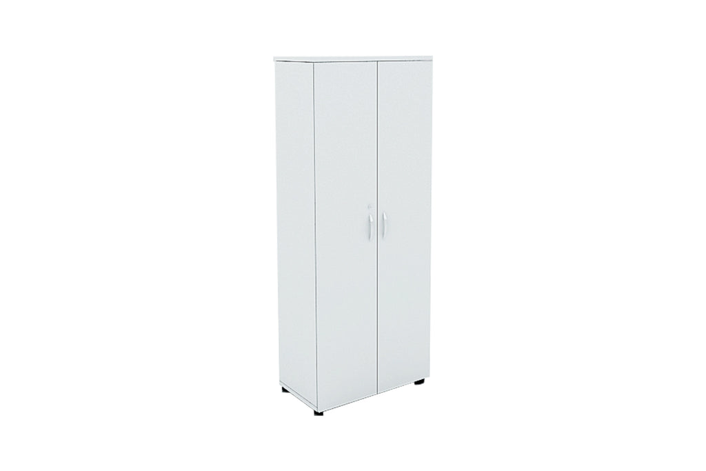 Benchwork Office Wooden Cabinet with Door Full Height in White Finishing