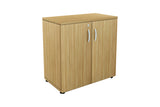 Benchwork Office Wooden Cabinet with Door Low Height in England Oak Finishing