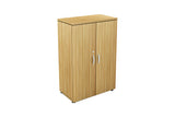 Benchwork Office Wooden Cabinet with Door Mid Height in England Oak Finishing