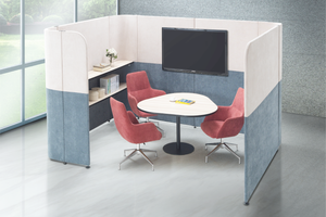 Caveman Office Discussion C-Shaped Pod