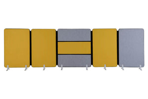 Cossa Office Acoustic Panel Cluster Of Five in Yellow and Grey