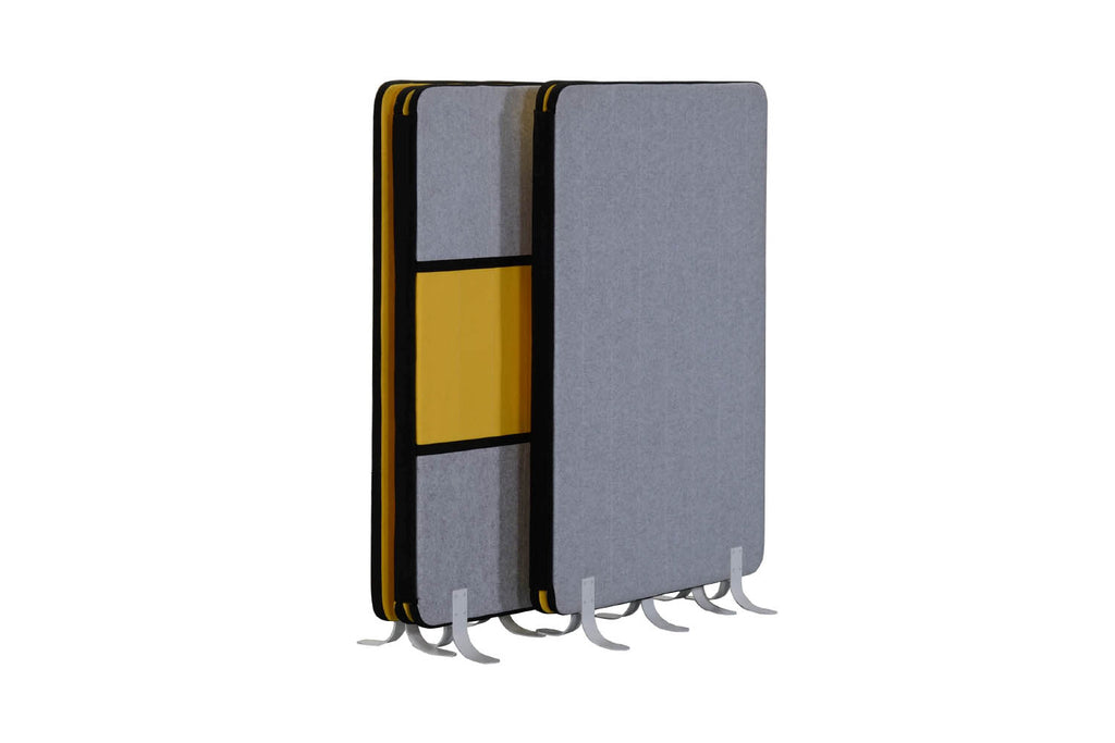 Cossa Office Acoustic Panel in Yellow and Grey Nested