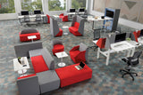 Domain Office Collaborative Discussion Pods in Office Workspace