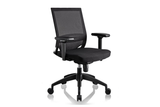 Ergomaster Orion Office Task Chair with Black Seat and Nylon Base Right Angled View