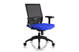 Ergomaster Orion Office Task Chair with Blue Seat and Nylon Base Right Angled View