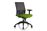 Ergomaster Orion Office Task Chair with Green Seat and Nylon Base Right Angled View