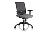 Ergomaster Orion Office Task Chair with Grey Seat and Nylon Base Right Angled View