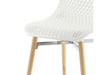 Infiniti Next Dining Chair with White Ergonomic Polycarbonate Shell with Perforated Holes Designed by Andreas Ostwald Zoomed 2