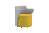 Kissara 1-Seater Lounge Chair with Yellow Seat and Casters