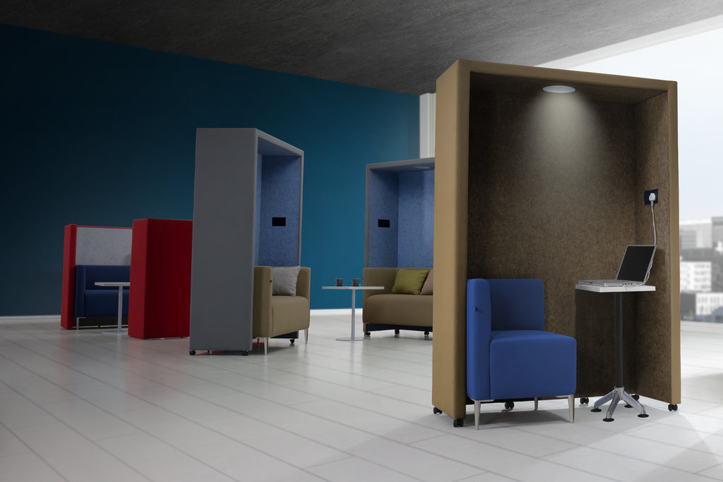 Privva Office Collaborative Discussion Pods in Office Workspace