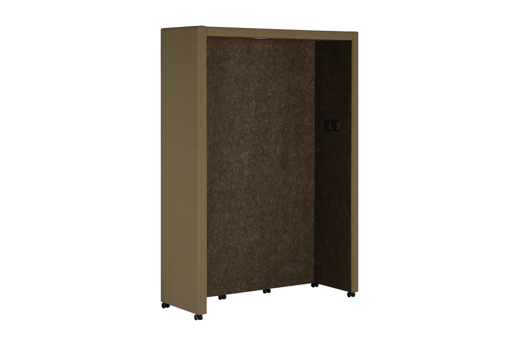 Privva Office Collaborative Discussion Pods with Brown Acoustic Panel