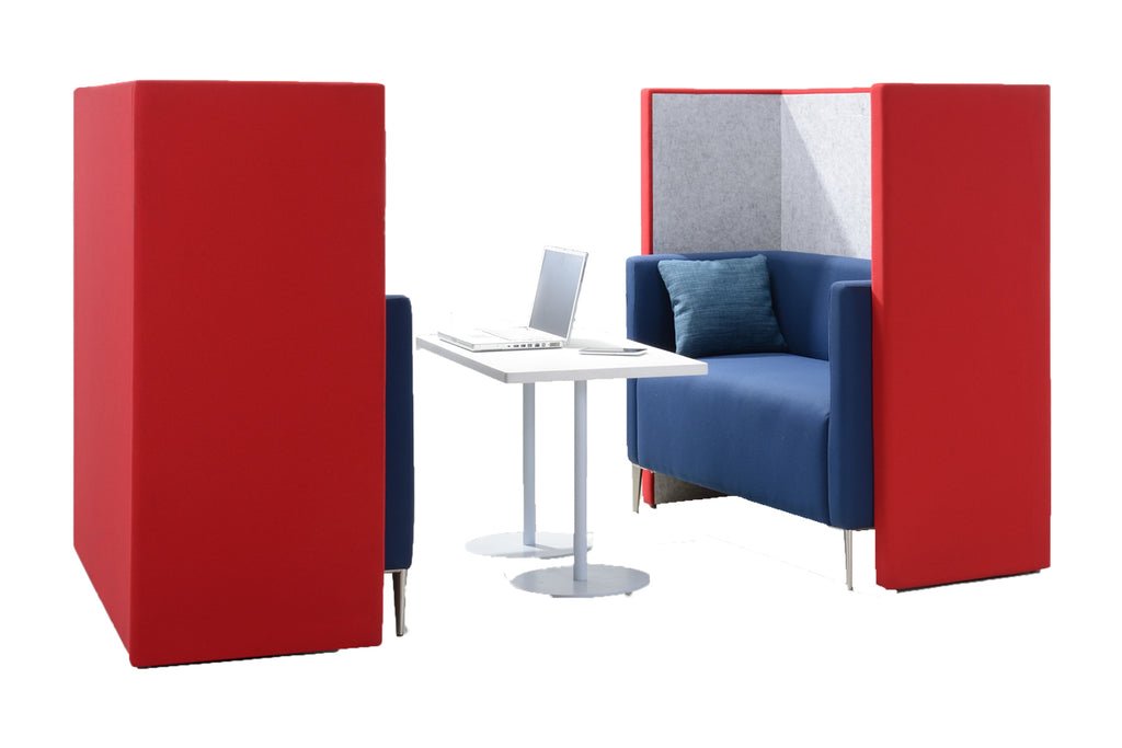 Privva Office Collaborative Discussion Pods with Two Seaters Discussion Setup