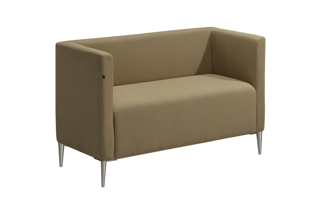 Privva Office Collaborative Discussion Pods Two Seaters Brown Sofa