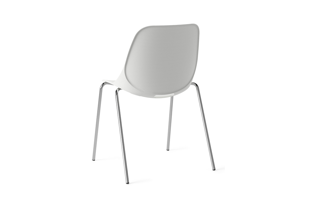 Quick Office Pantry Chair in White Back Angled View