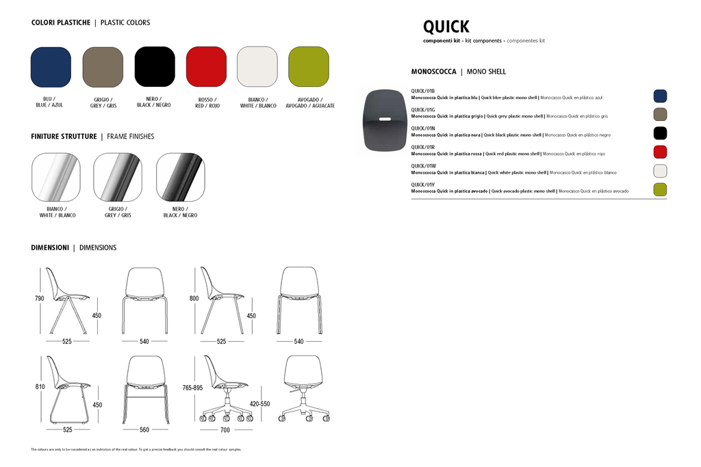 Seat Colours from Wilsin Office Furniture for Quick Chair