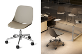 Quick Office Training Chair in Grey with Star Base and Caster Wheels