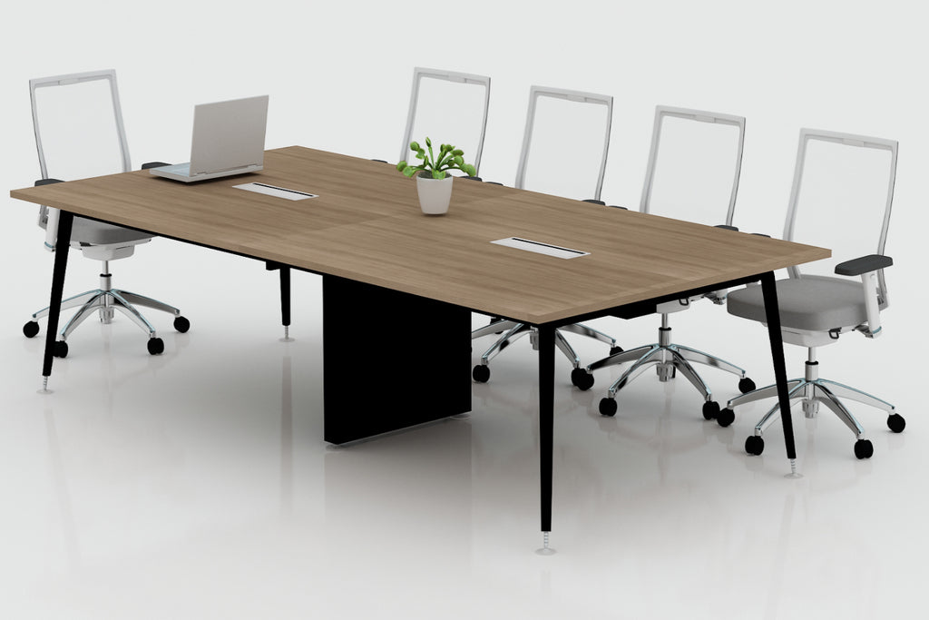 RS Office Workstation Hot Desks Cluster of 8 with R80 Finishing Angled View
