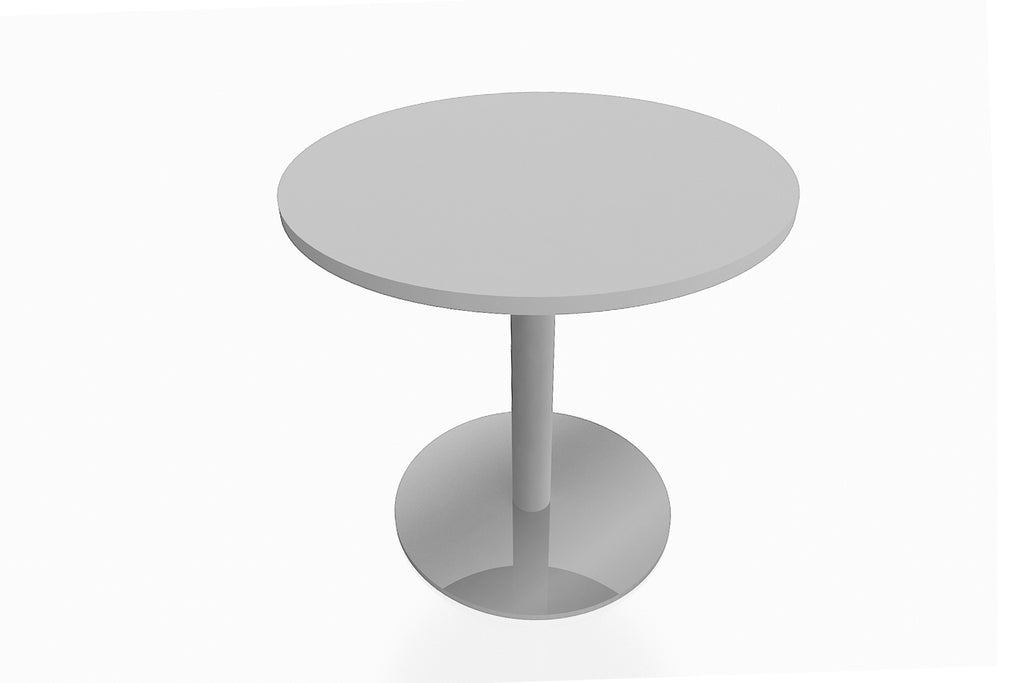 Round Discussion Table with White Table Top