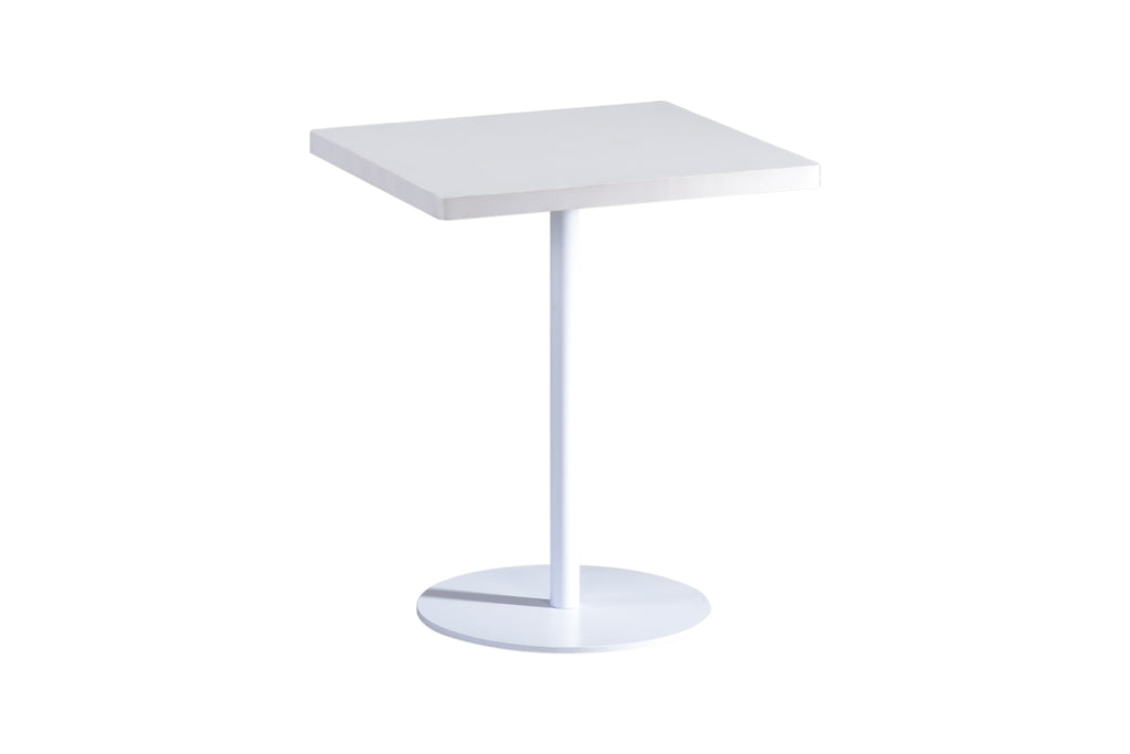 Privva Square Discussion Table with White Table Top and White Base