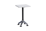 Privva Square Discussion Table with White Table Top and Chrome Base