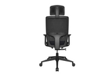 Teddy Office Task Chair with Black Seat and Nylon Base Back View
