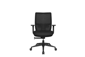 Midback Teddy Office Task Chair with Black Seat and Nylon Base Front View
