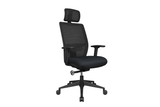 Teddy Office Task Chair with Black Seat and Nylon Base Right Angled View