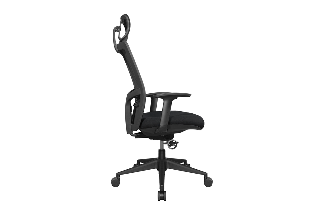 Teddy Office Task Chair with Black Seat and Nylon Base Right View
