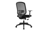 UNO Office Task Chair with Black Seat and Nylon Base Back Angled View