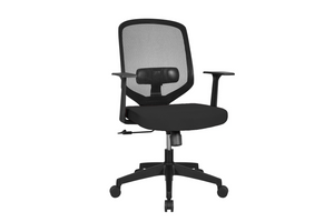 UNO Office Task Chair with Black Seat and Nylon Base Right Angled View