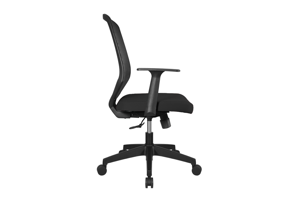 UNO Office Task Chair with Black Seat and Nylon Base Right View