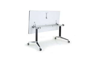 Y2 Foldable Training Table with White Table Top in Folded Setup
