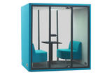 Grando Spazio Office Phone Booth Privacy Pod in Turquoise
