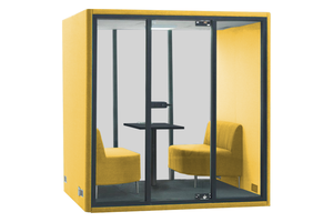 Grando Spazio Office Phone Booth Privacy Pod in Yellow