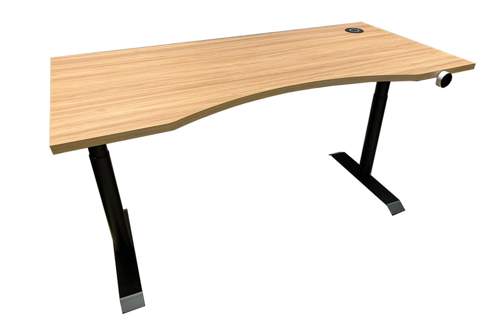 Height Adjustable Table with Hampshire Table Top and Wireless Charger
