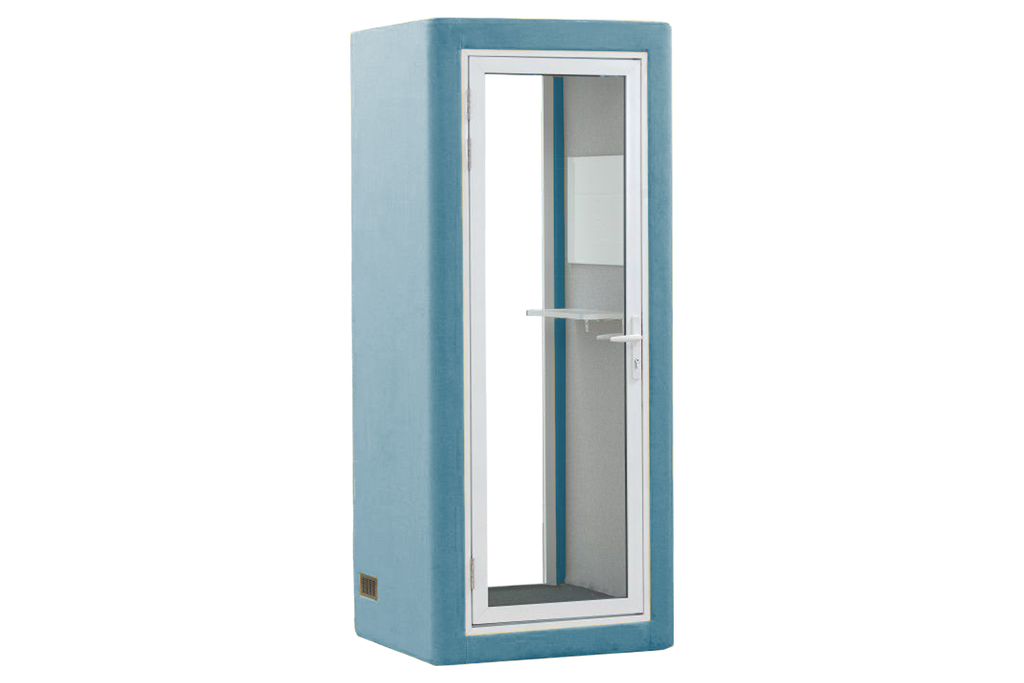 Picco Spazio Office Phone Booth Privacy Pod in Blue