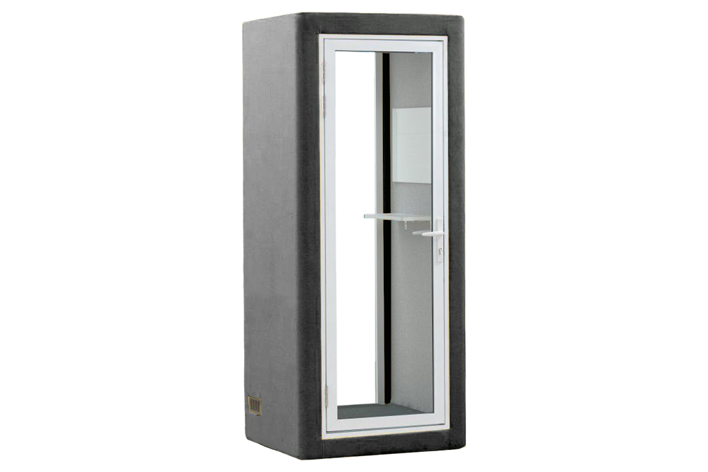 Picco Spazio Office Phone Booth Privacy Pod in Grey