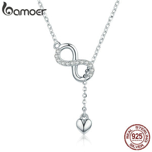 925 Sterling Silver Infinity Forever Love  Necklace for Women