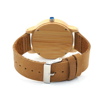 Load image into Gallery viewer, Women/Men Wooden Watch  with Leather Strap