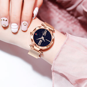 Luxury Rose Gold Women Watch Casual . + FREE BRACELET
