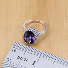 Load image into Gallery viewer, 925 Silver Jewelry Purple Cubic Zirconia  Set For Women Earring/Pendant/Necklace/Ring/Bracelet  FREE SHIPPING