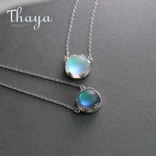 Load image into Gallery viewer, Aurora Pendant Necklace Halo Crystal -925 Silver