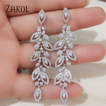 Load image into Gallery viewer, Cubic Zirconia Long  Earrings For Elegant Women  BEST PRICE HERE