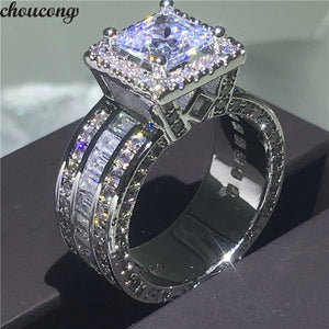 925 Sterling Silver Princess cz stone Ring For Women  BEST DEAL